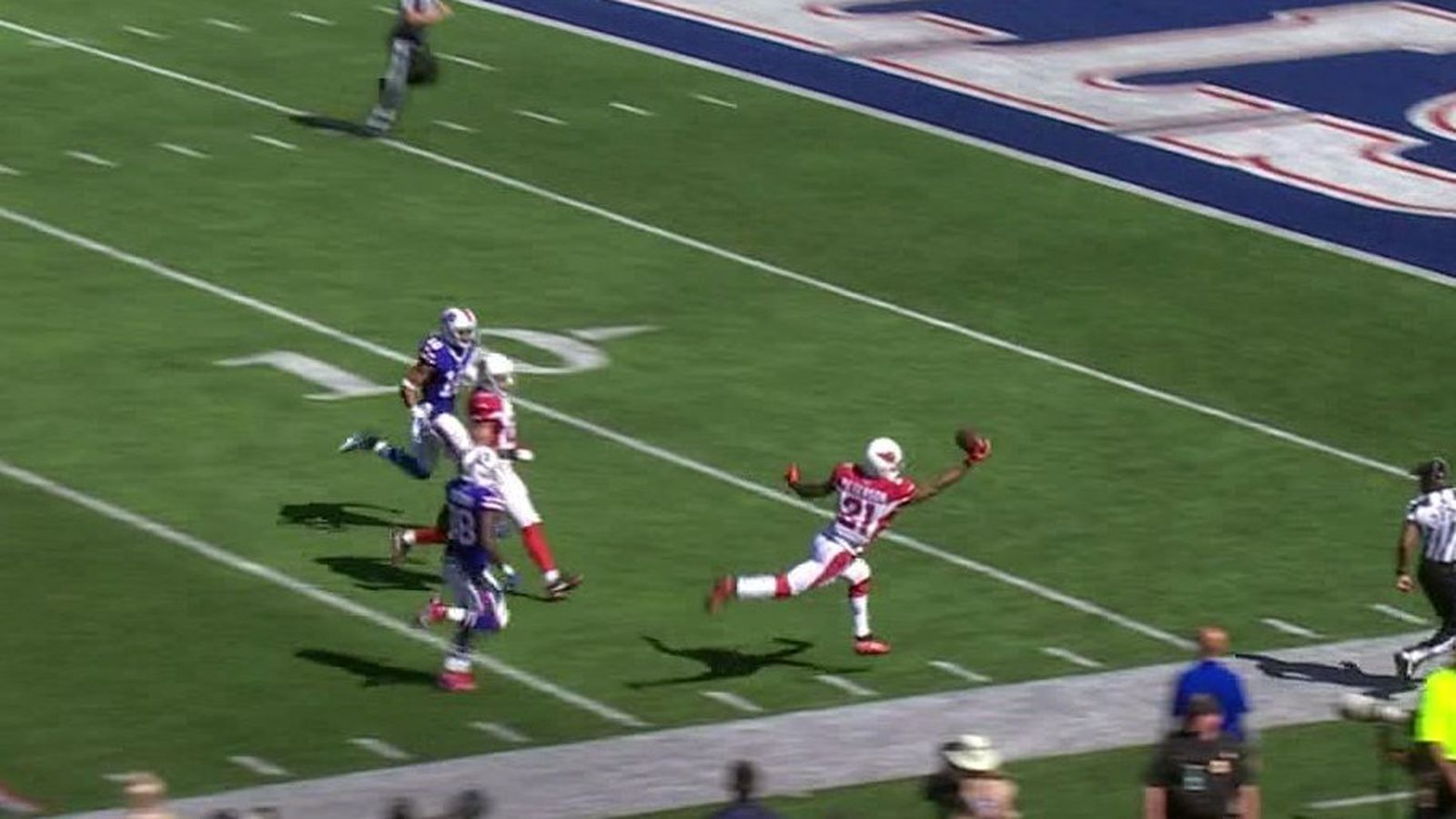 Patrick Peterson s unreal 1 handed interception is the only good