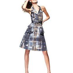"<a href=""http://www.macys.com/campaign/social?campaign_id=298&channel_id=1&cm_mmc=VanityUrl-_-fashionstar-_-n-_-n"">Sleeveless Printed Halter Shirtdress by Barbara Bates</a>, at Macy's for $99"