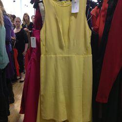<b>Tibi</b> yellow dress, $81 (from $335)