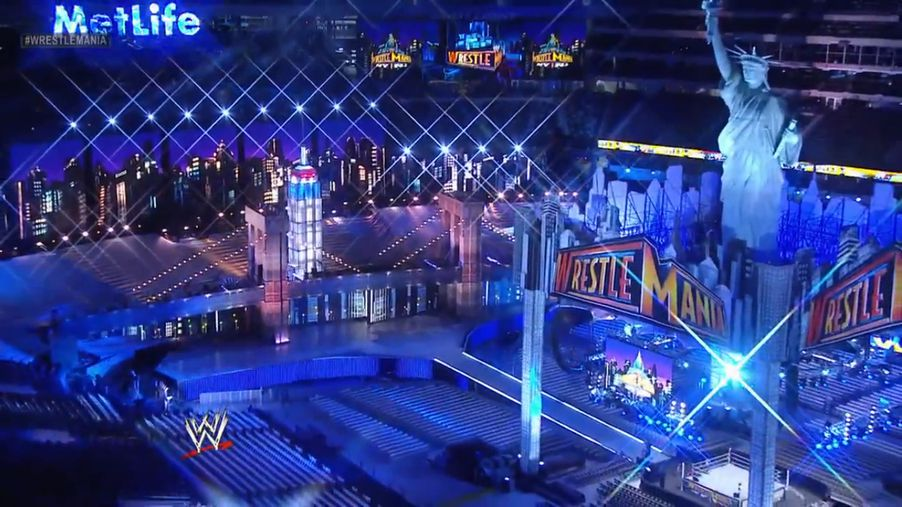 WrestleMania 29 stage set up photo gallery from MetLife ... Wrestlemania 29 Stage