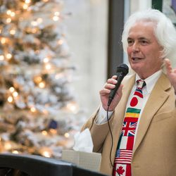 Alex McDonald, director of public education and public relations for Intermountain Donor Services, speaks at a ceremony hosted by Intermountain Donor Services in Salt Lake City on Wednesday, Dec. 21, 2016.