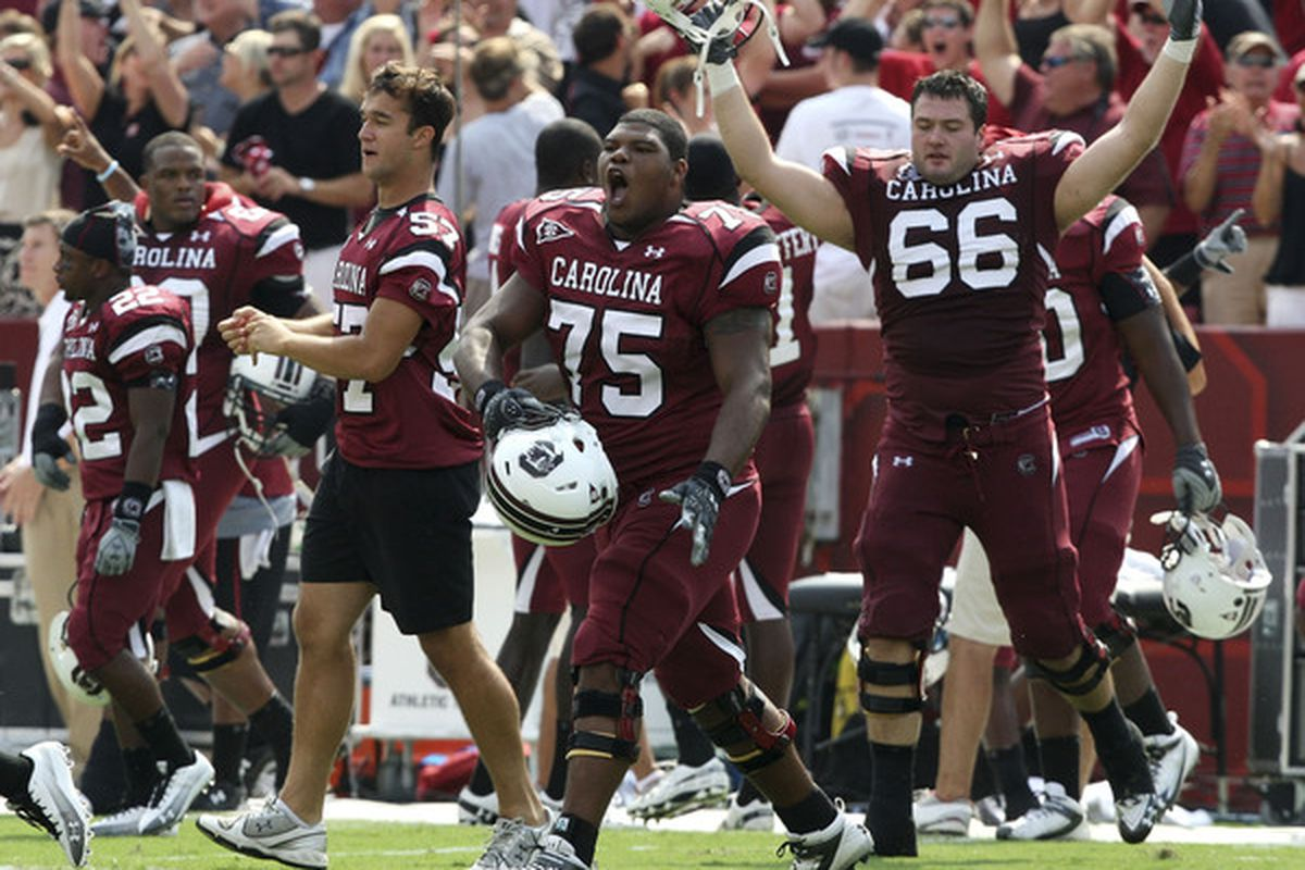South Carolina's offensive line has come a long way since Shawn Elliott arrived in 2010.