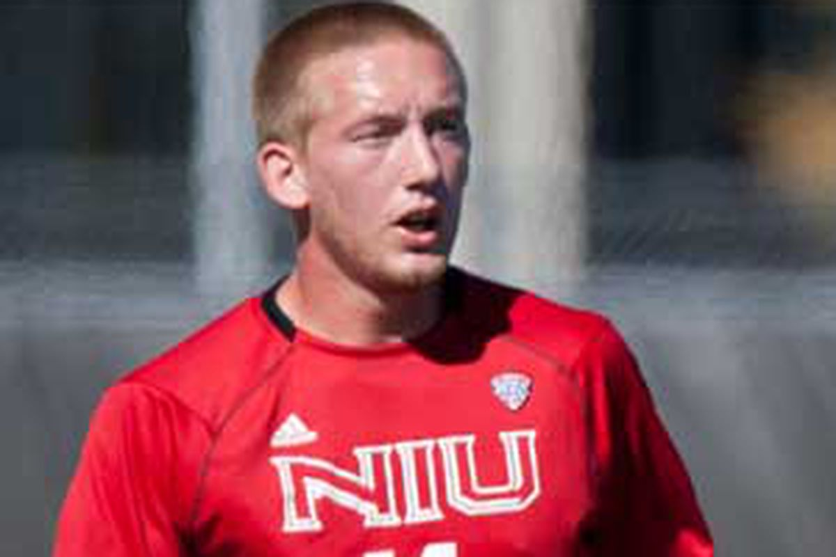 Sean Totsch during his time with Northern Illinois University.