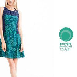 """<b>Wren</b> Combo Leopard Dress in Navy/Emerald, <a href=""""http://www.shopcondor.com/wren-combo-leopard-dress.html"""">$298</a> at Condor"""