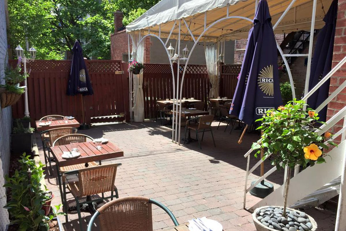 The terrasse at Wilfrid sur Laurier