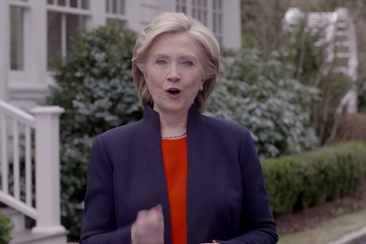 In her ad, Hillary Clinton positions herself as just one of the many, many people in America with big dreams.