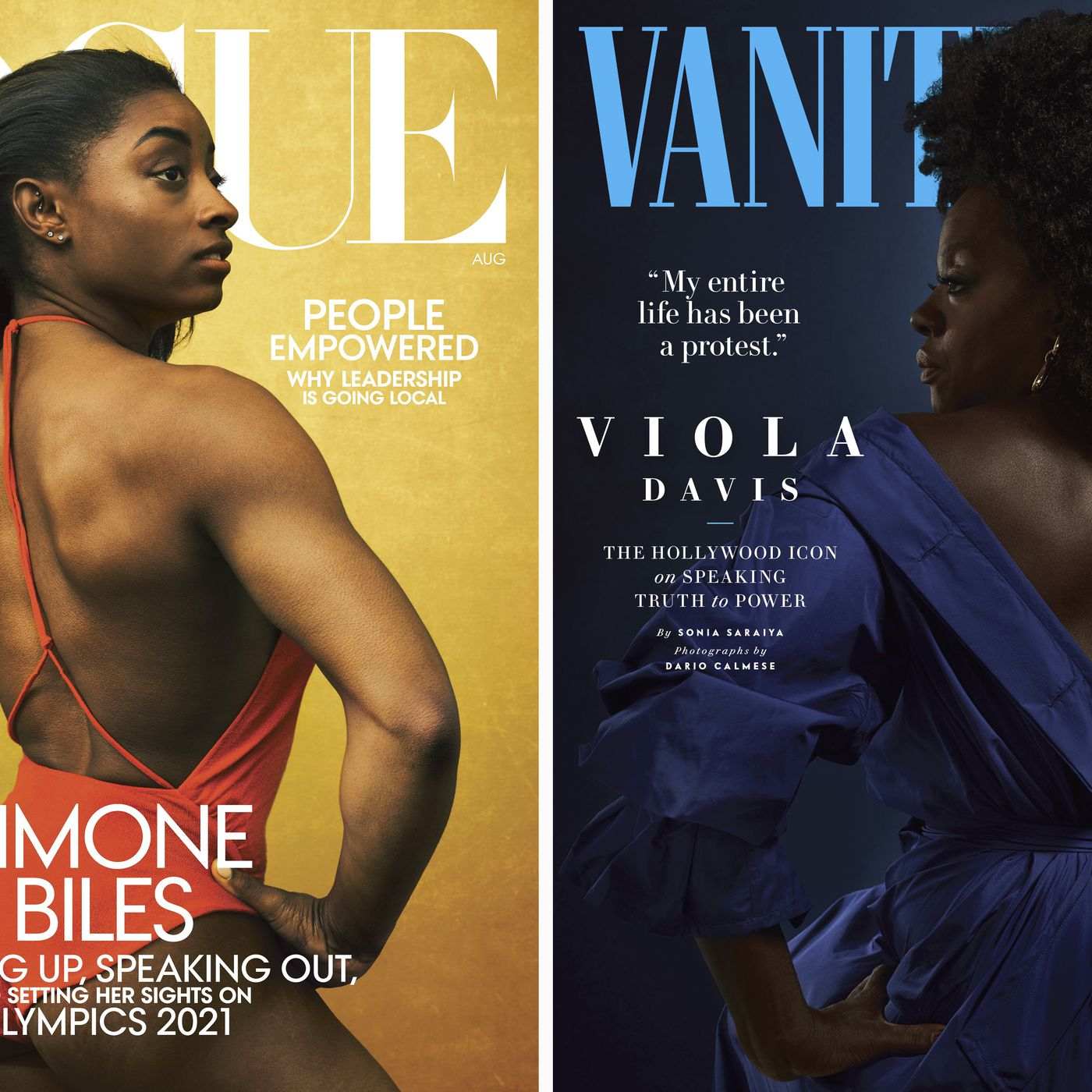 Vogue And Vanity Fair Covers Featuring Simone Biles And Viola Davis Draw Criticism Vox