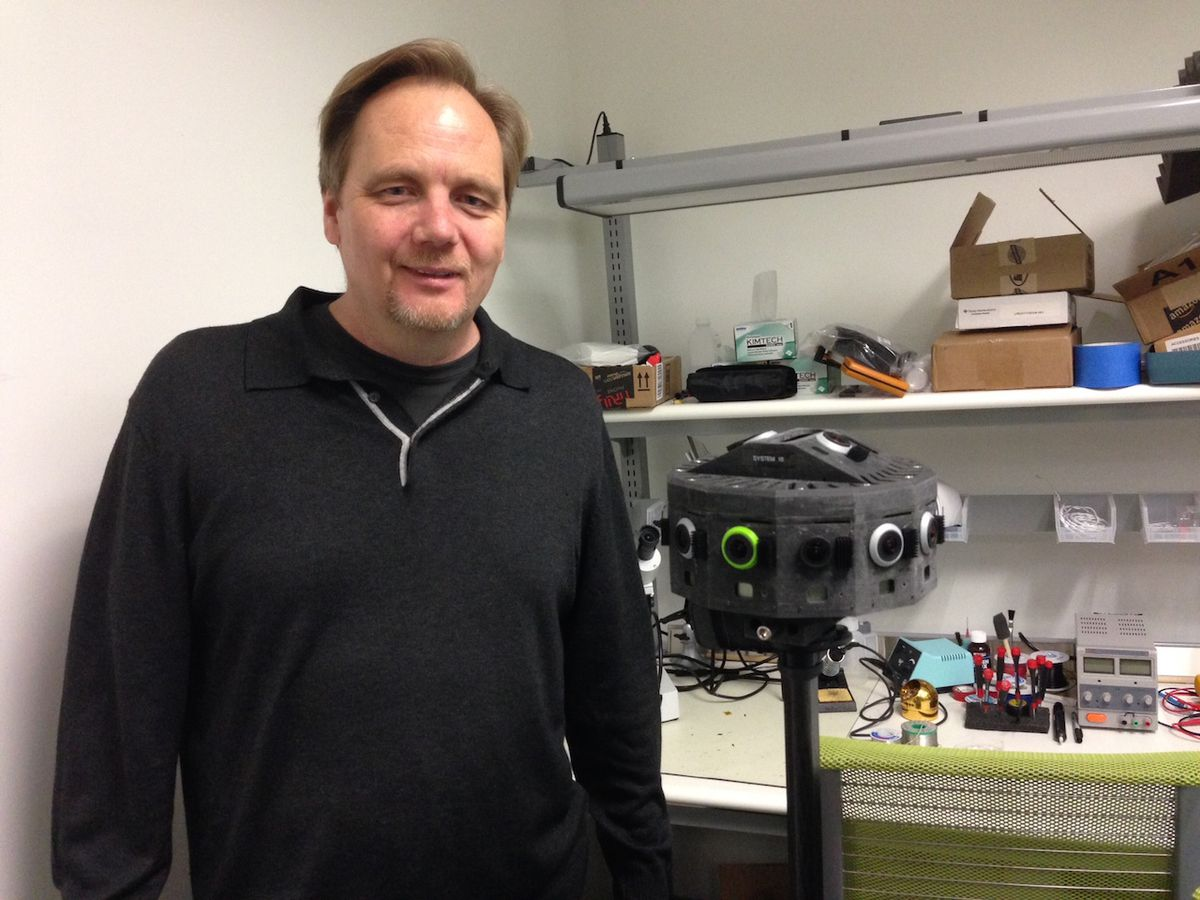 Jaunt CEO Jens Christensen with the company's virtual reality camera