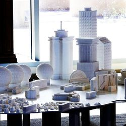 Sugar cube sculptures that map iconic buildings across the country are on display at Intermountain Medical Center in Murray on Monday, July 18, 2016. Sculptors Brendan Jamison and Mark Revels displayed their work to raise awareness on how to manage sugar intake for a healthy lifestyle.