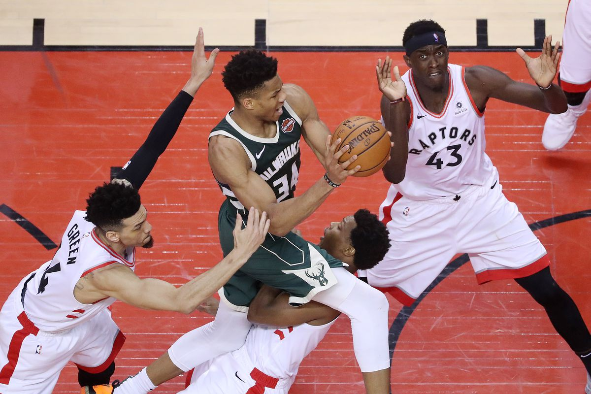 Toronto Raptors beat the Milwaukee Bucks in game four 120-102 to even up the Eastern Conference NBA Final at two games each