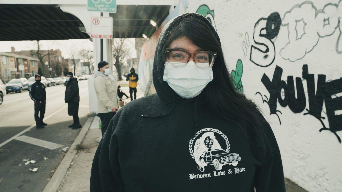 Arielle Acevedo organized the mural in order to provide positive art for the neighborhood kids.