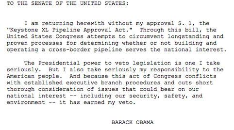 Obama Keystone veto