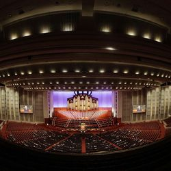 President Russell M. Nelson, president of The Church of Jesus Christ of Latter-day Saints, speaks during the 191st Semiannual General Conference of The Church of Jesus Christ of Latter-day Saints in the Conference Center in Salt Lake City on Sunday, Oct. 3, 2021.
