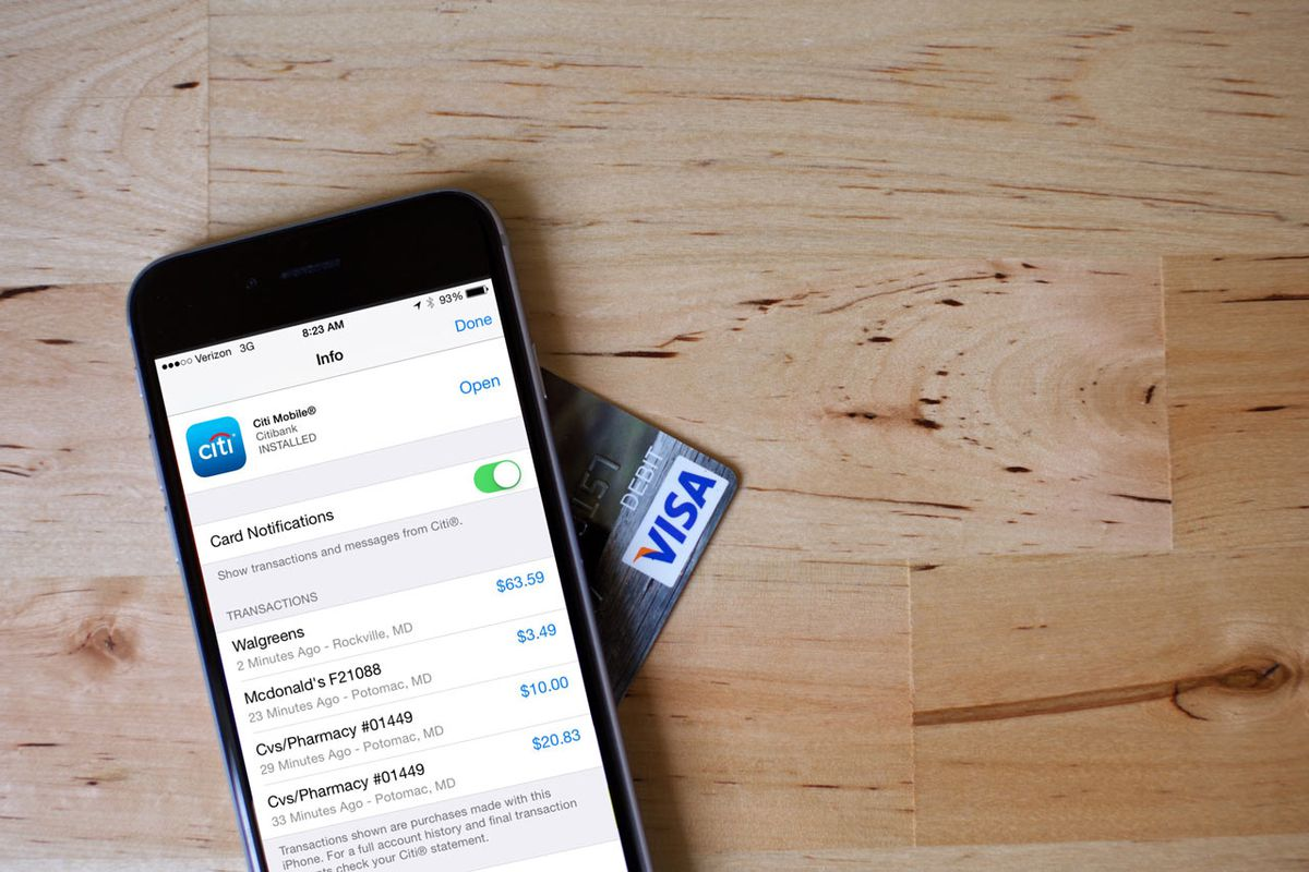 Apple Pay shows recent purchases you've made with credit cards, but not debit cards.