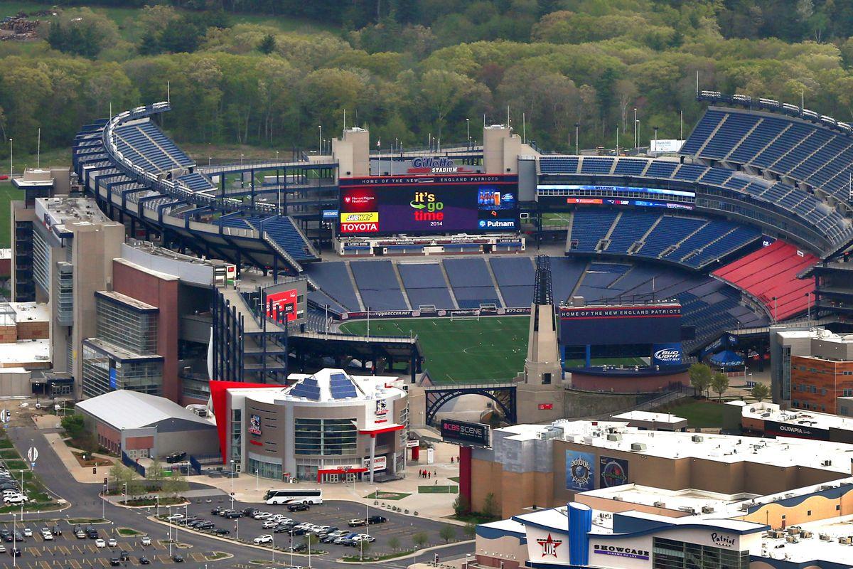 Aerial View Of Gillette Stadium