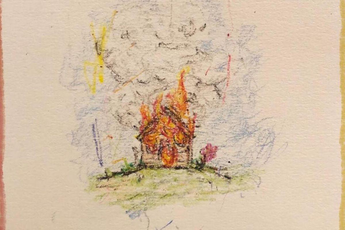 Isaiah Rashad's 'The House is Burning' artwork