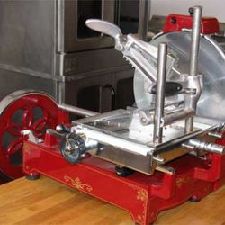 The meat slicer has already seen a lot of action