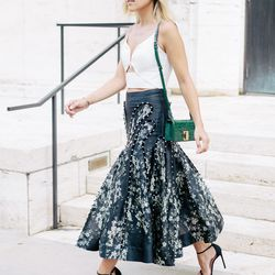 """Jacey of <a href=""""http://damselindior.com""""target=""""_blank"""">Damsel in Dior</a> is wearing a Zimmermann <a href=""""http://us.zimmermannwear.com/readytowear/clothing/skirts/tempo-orchid-skirt-floral.html?siteID=QFGLnEolOWg-_9jh7yWkONZ7S5wQlp0blg""""target=""""_bl"""