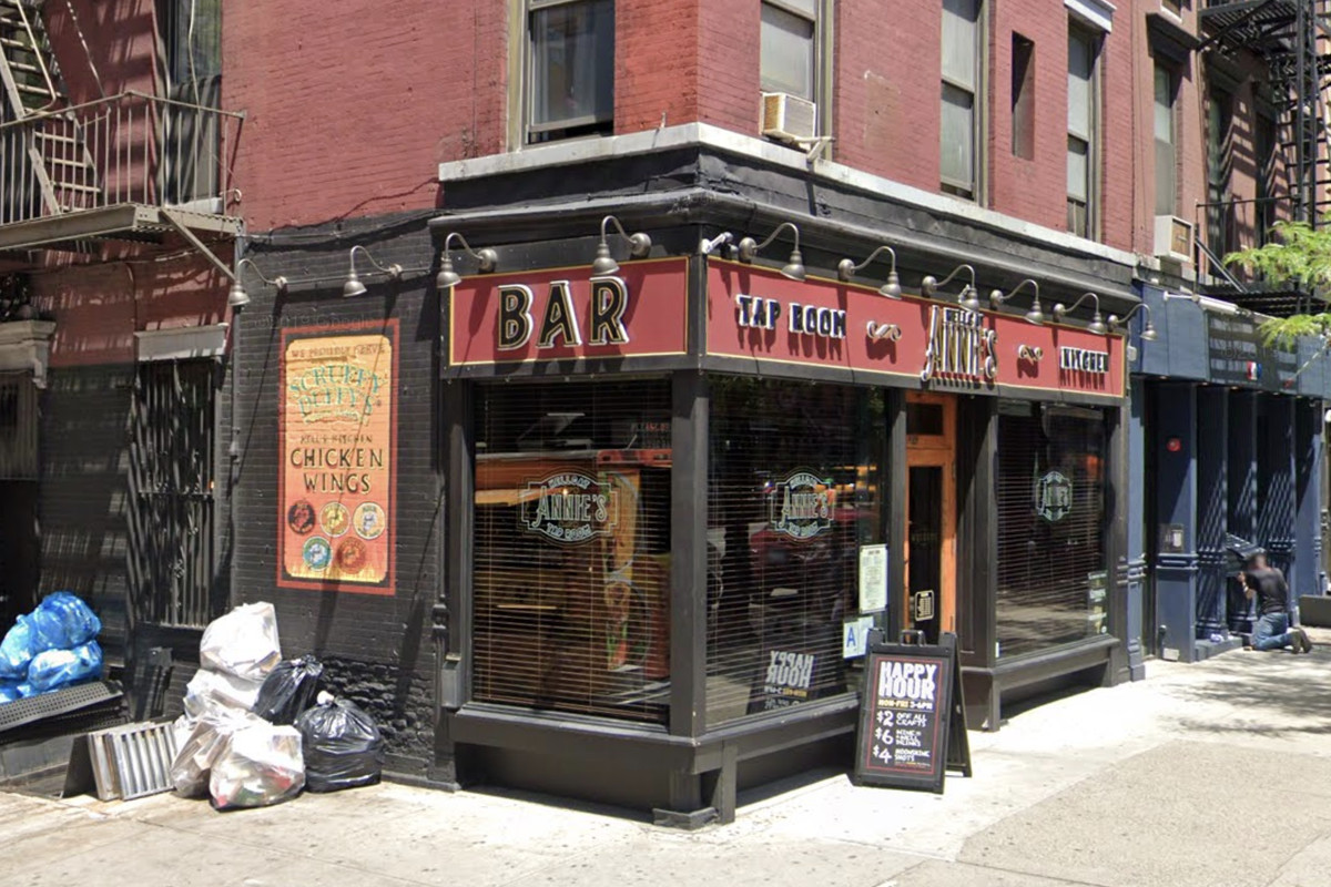 The exterior of a bar called Hellcat Annie's in Hell's Kitchen