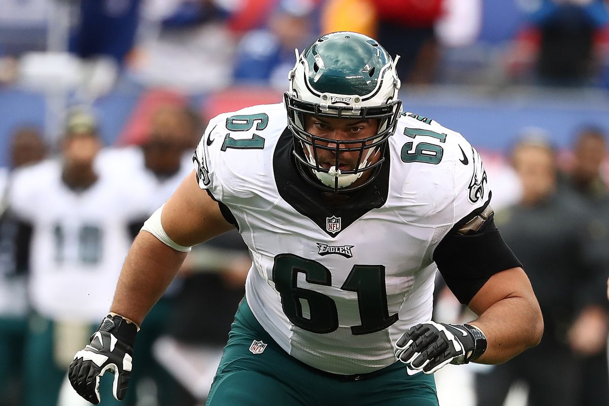26d6b868b3c Photo by Al Bello/Getty Images. Former Philadelphia Eagles interior  offensive lineman Stefen Wisniewski ...