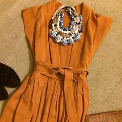 """""""Isabel Marant maxi dress with loads of new Lizzie Fortunato necklaces, vintage clutch and a pair of burgundy suede Rag & Bone booties"""""""