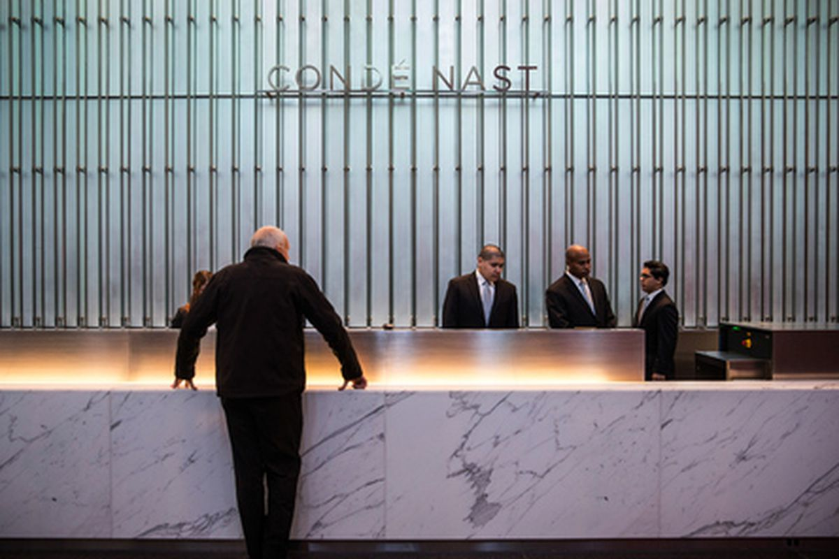 Condé Nast's new lobby in One World Trade Center. Photo: Getty Images
