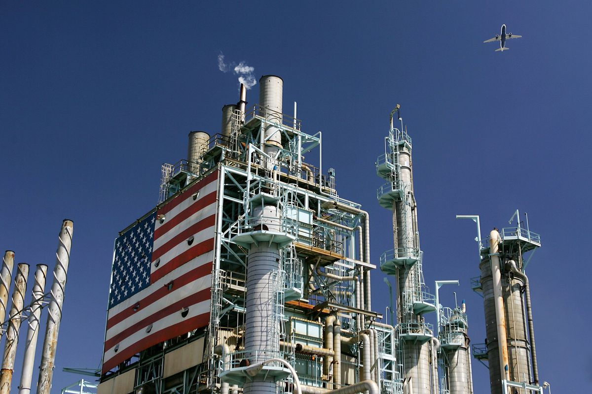 Next up, oil refineries. (David McNew/Getty Images)