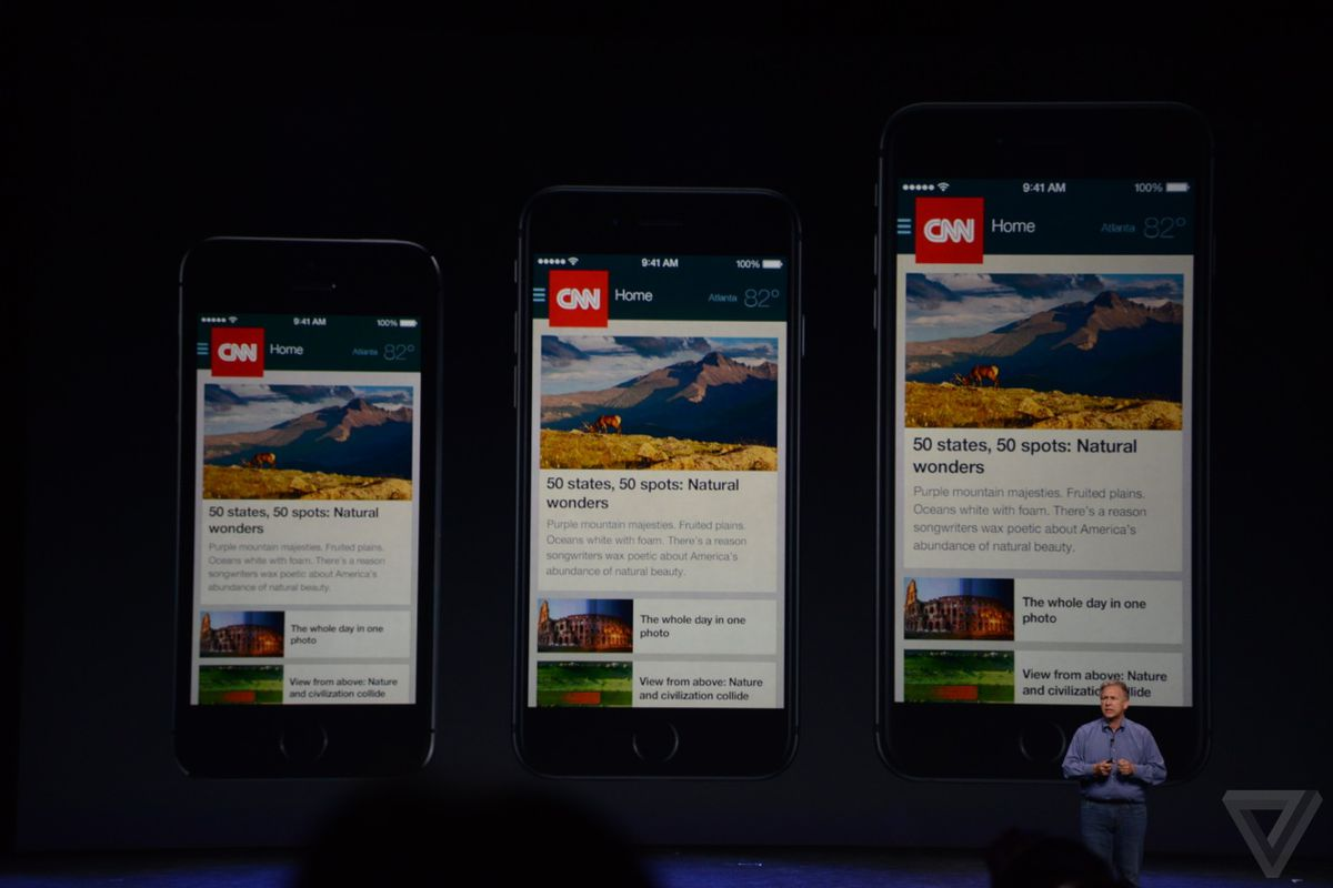 This is how today's apps will look on the iPhone 6 and 6
