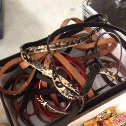 Belts, $35