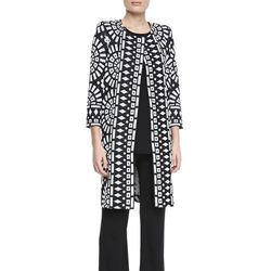 """<b>Misook</b> Giovanna Printed Long Coat, <a href=""""http://www.neimanmarcus.com/Misook-Giovanna-Printed-Long-Coat-/prod166930044___/p.prod?icid=&searchType=MAIN&rte=%252Fcategory.service%253FNtt%253Dlong%252Bjacket%2526pageSize%253D120%2526No%253D0%2526ref"""