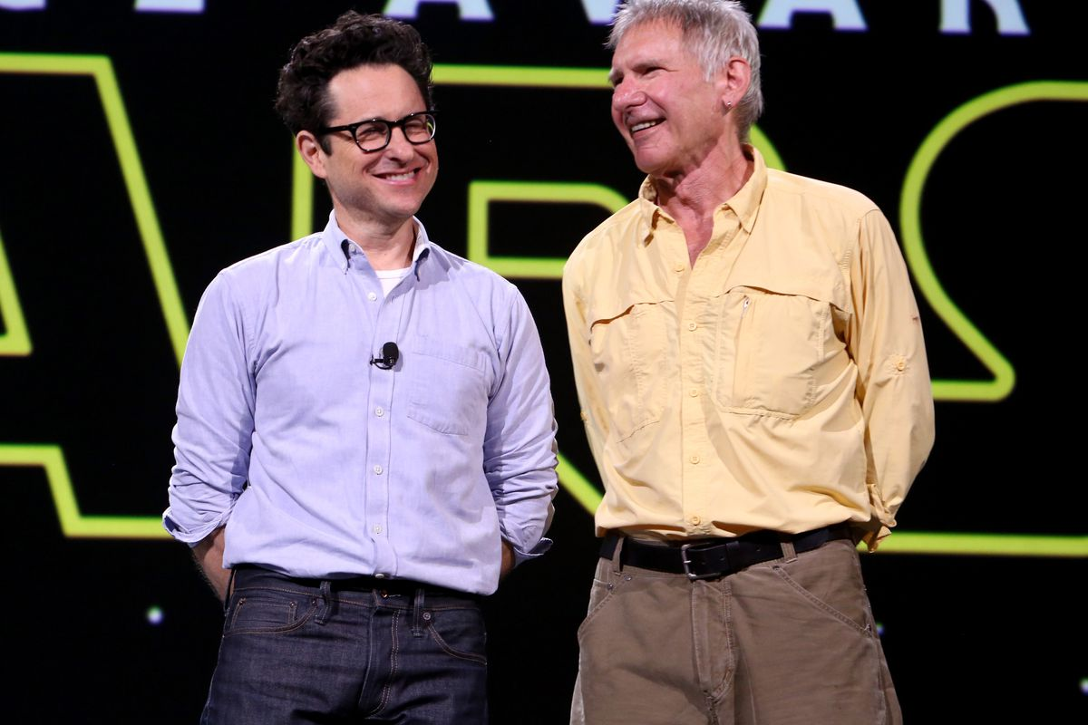 J.J. Abrams and Harrison Ford, getting ready to awaken the force.