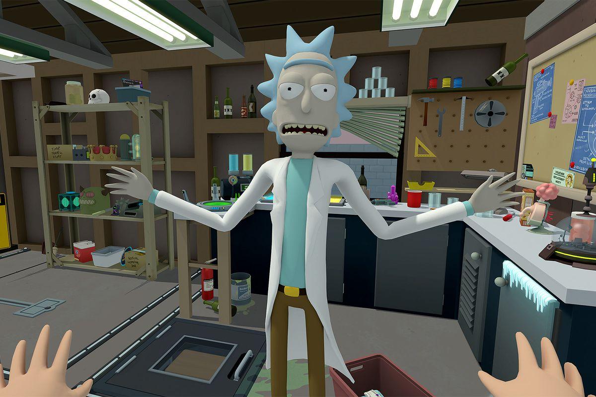 Rick and Morty: Virtual Rick-ality - Rick in garage