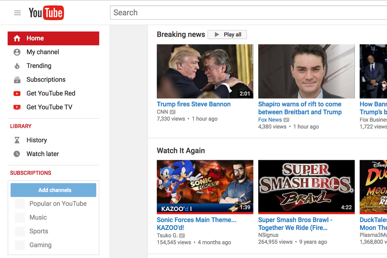 youtube adds breaking news section to homepage and mobile apps