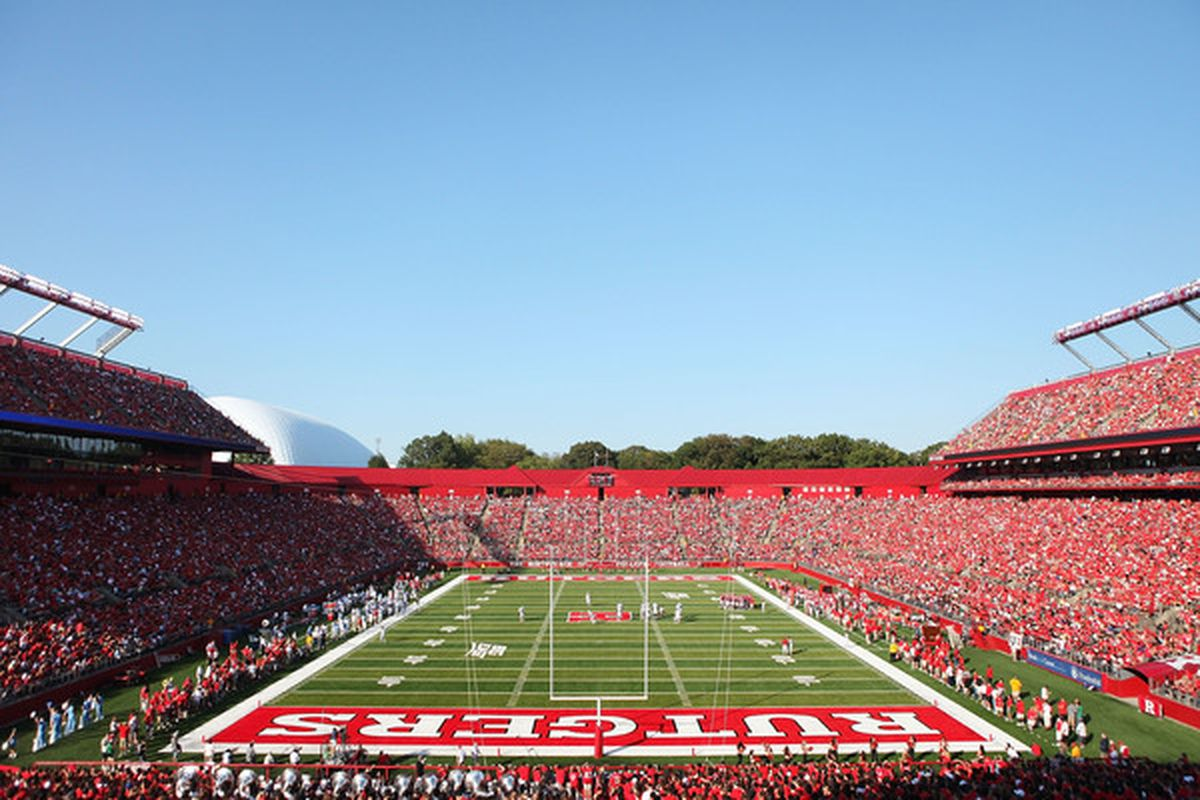 NEW BRUNSWICK NJ - SEPTEMBER 25:  Rutgers Stadium is seen during a Rutgers Scarlet Knights football game against the North Carolina Tar Heels on September 25 2010 in New Brunswick New Jersey.  (Photo by Andrew Burton/Getty Images)