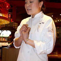 China Poblano chef Shirley Chung explains the dishes.