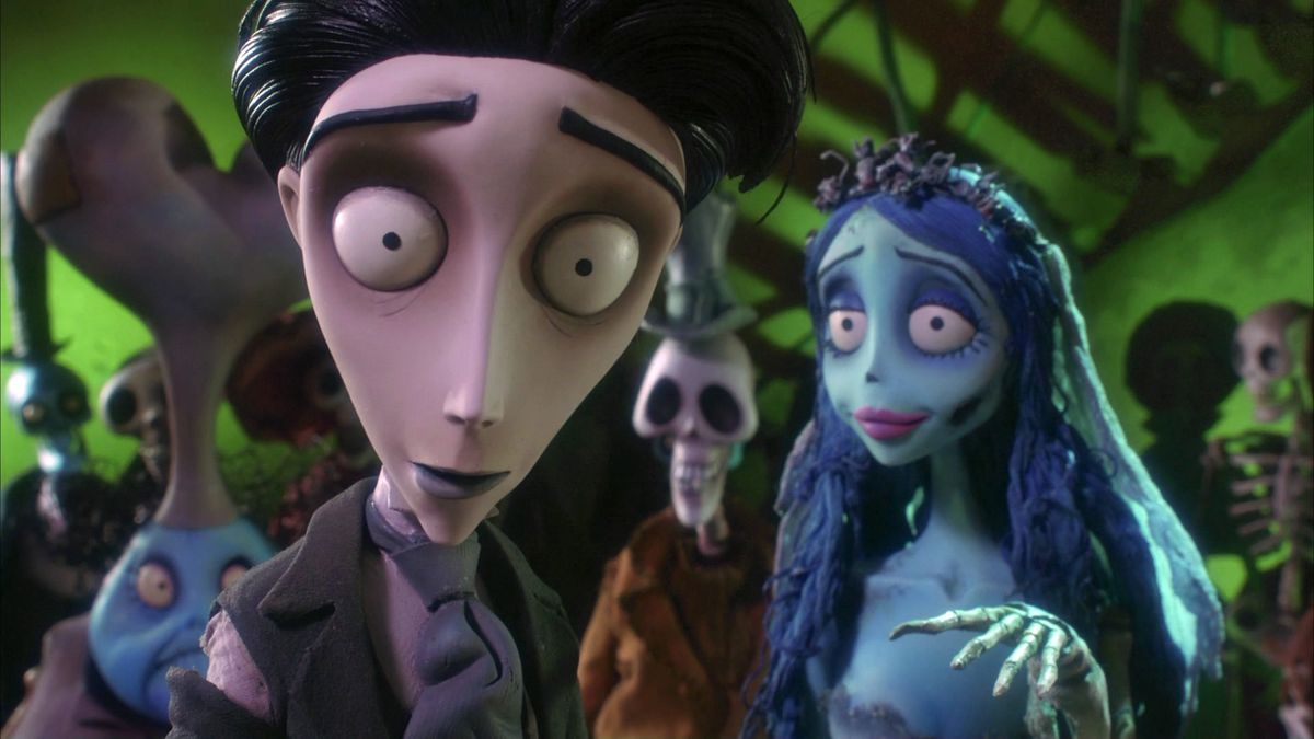 The Corpse Bride and Victor at a skeleton dance