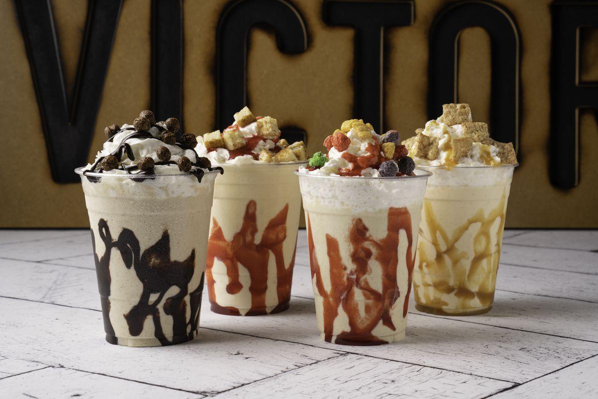 Four milkshakes