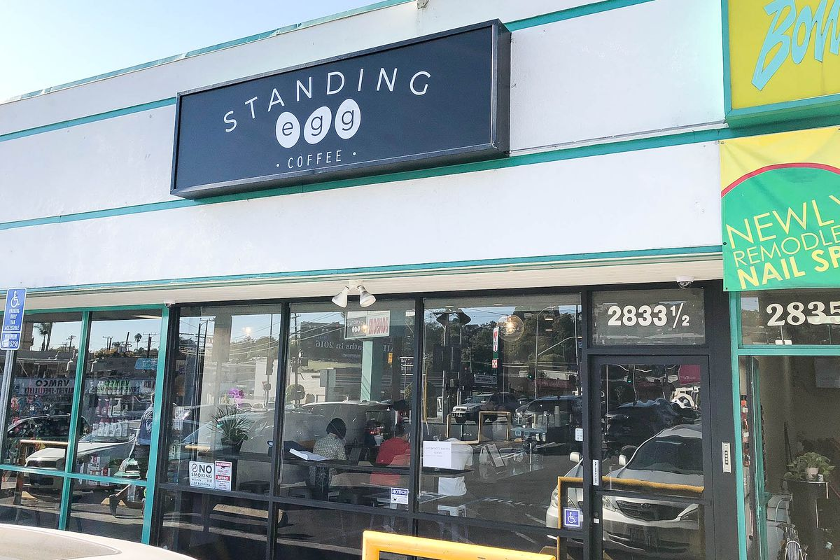 Standing Egg Coffee Wobbles Into the Silver Lake Caffeine Scene - Eater LA