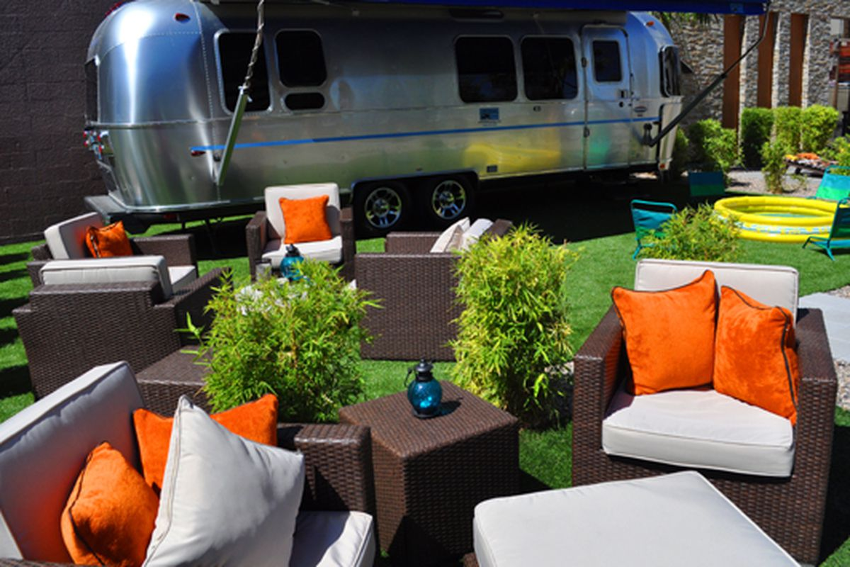 Airstream at the Gold Spike