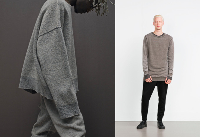 yzy zara sweaters