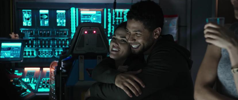 Callie Hernandez and Jussie Smollett in the 'Alien: Covenant'<em> </em>prologue.