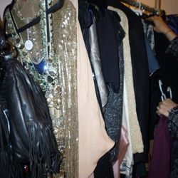 Mary Alice Stephenson's rejects - that bejeweled Naeem Khan cocktail dress at the front weighed a ton