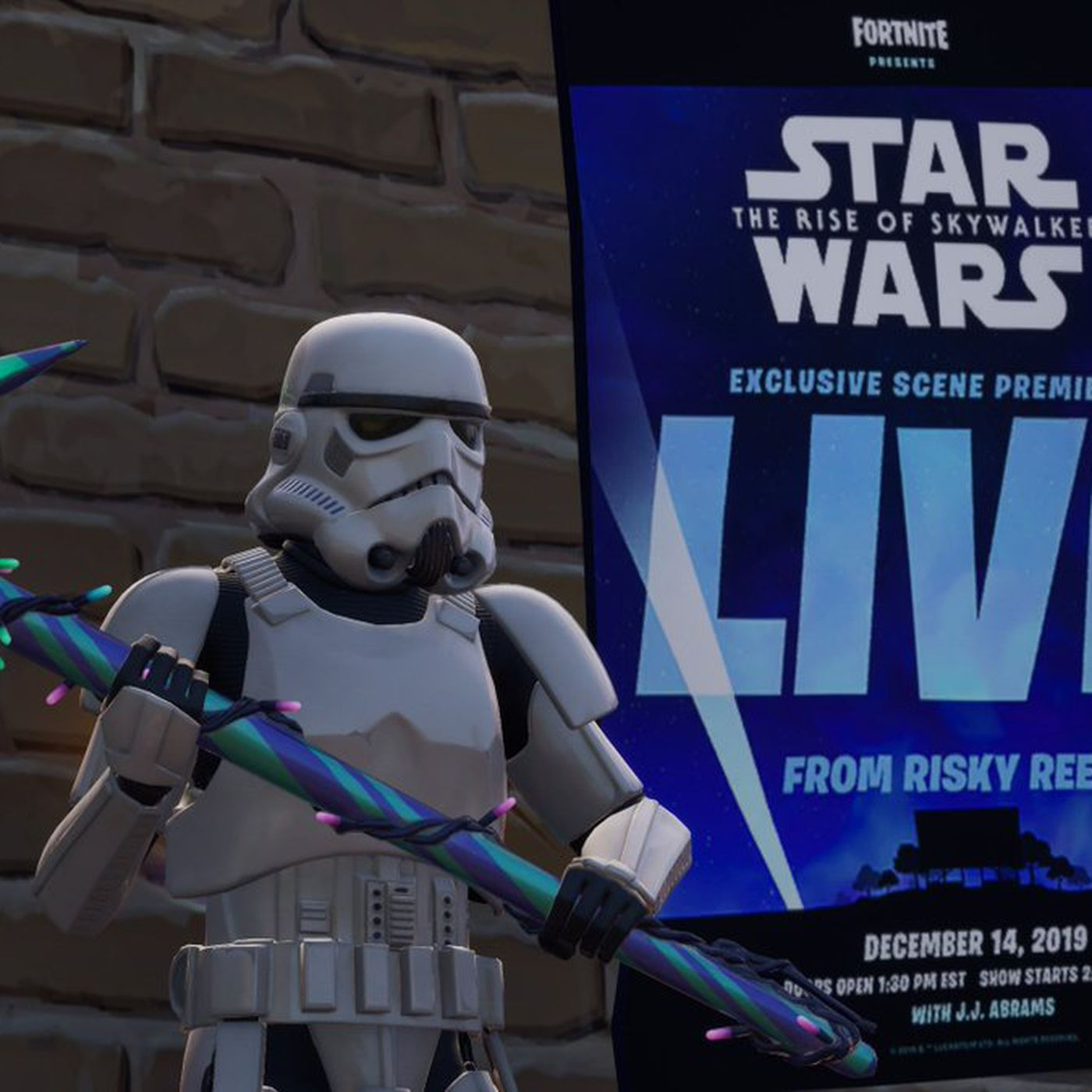 Fortnite S Movie Theater Will Show A Scene From Star Wars The Rise Of Skywalker Polygon