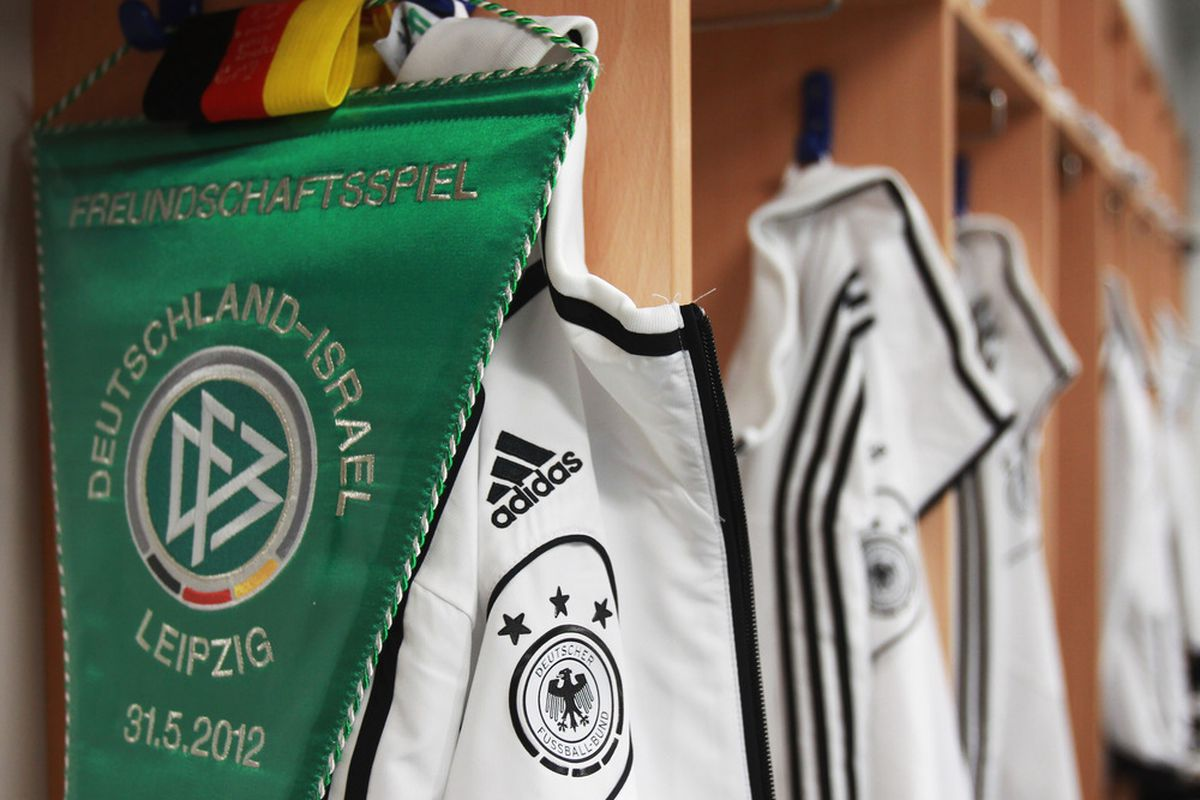 LEIPZIG, GERMANY - MAY 31:  A general view of the Germany dressing room ahead the international friendly match between Germany and Israel at Zentralstadion on May 31, 2012 in Leipzig, Germany.  (Photo by Joern Pollex/Bongarts/Getty Images)