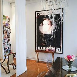 The office space of jewelry designer Michelle Campbell.