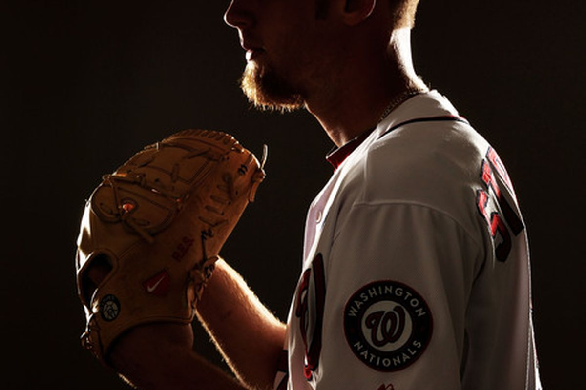 VIERA FL - FEBRUARY 25:  Stephen Strasburg #37 of the Washington Nationals poses for a portrait during Spring Training Photo Day at Space Coast Stadium on February 25 2011 in Viera Florida.  (Photo by Al Bello/Getty Images)