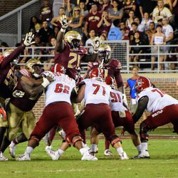 JR DT Marvin Wilson's ups terrified the ball into clanging off the uprights.