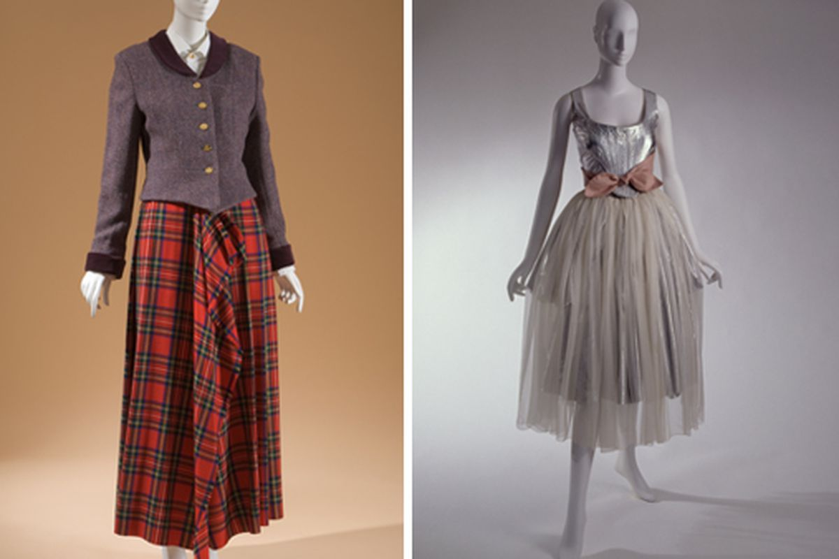 Two looks from Westwood's Time Machine collection. Courtesy The Museum of FIT, New York
