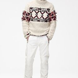 Wool Sweater ($129), Pants ($59.95), Suede Boots ($199)