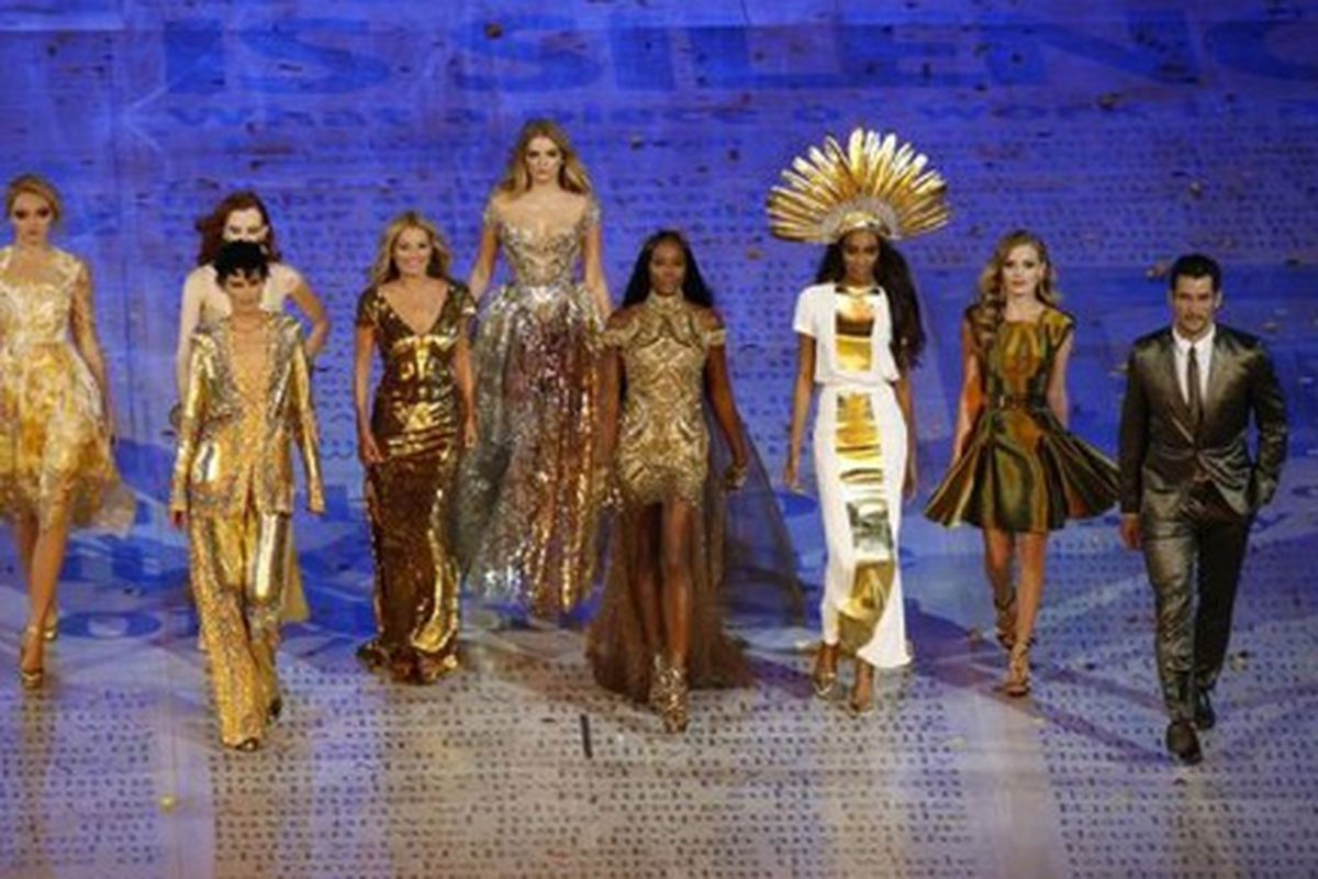 London's gilded, fashion-heavy Closing Ceremonies